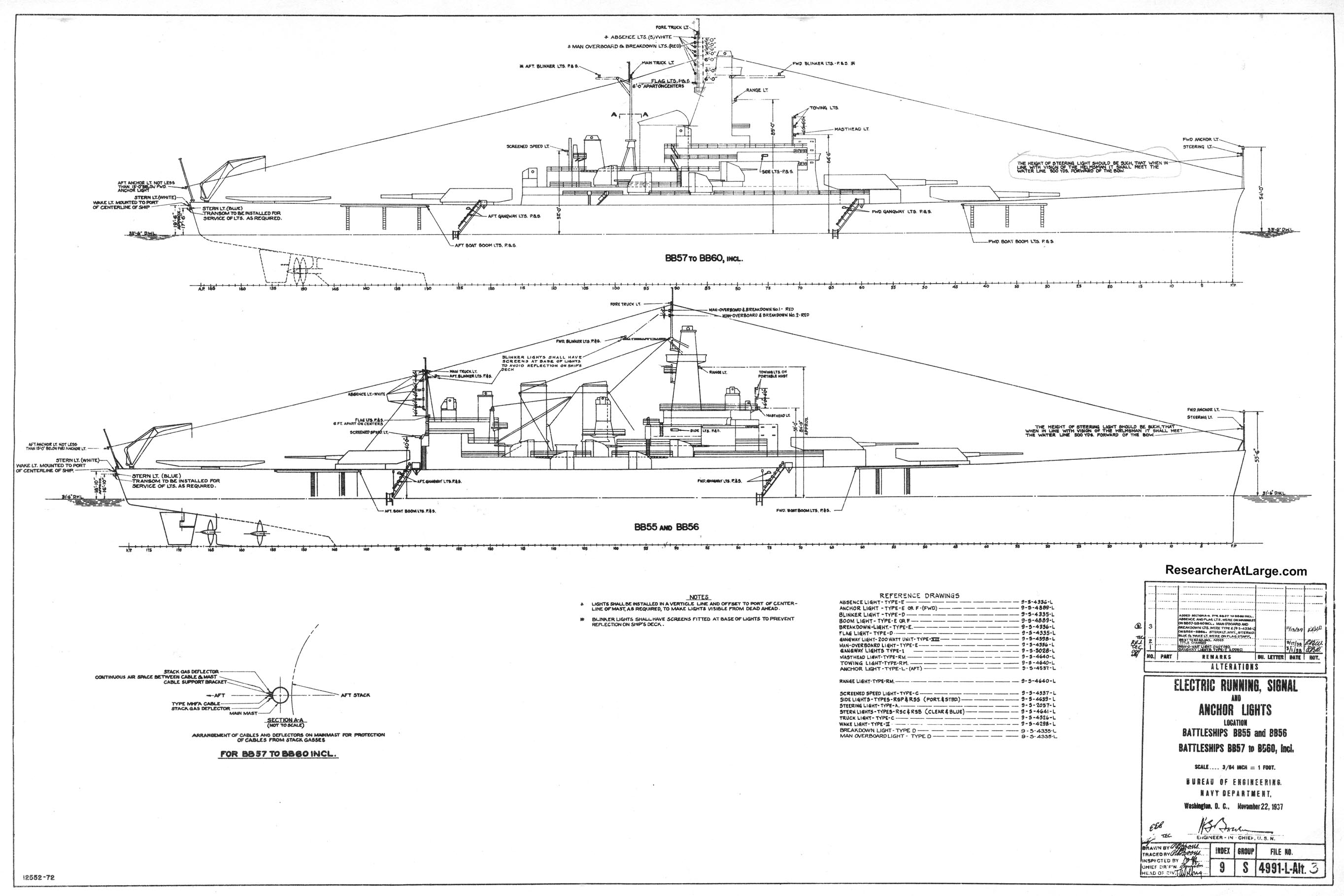 Researcherlarge us navy wwii ship drawings malvernweather Images