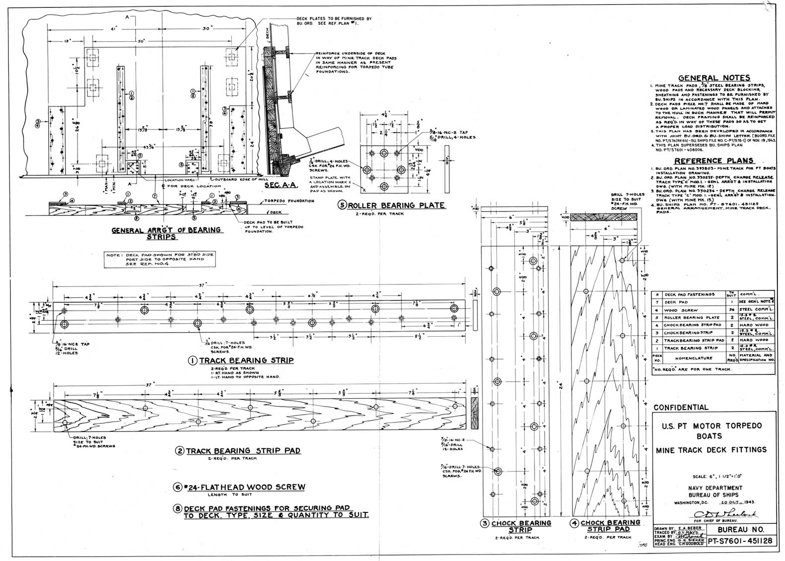 Researcherlarge 1943 Minelaying For Pt Boats Memo Boat Station Wiring Diagram Two S7601 451128 Us Motor Torpedo Mine Track Deck Fittings